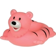 Tiger soap dish - Squeaking rubber pink tiger soap dish.