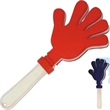 Hand clapper - Plastic hand clapper with white handle.
