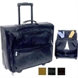 GENUINE LEATHER GARMENT BAG ON WHEELS - Full grain cowhide leather, handmade in Colombia. Garment bag on wheels with adjustable/detachable strap, holds 3-4 suits.
