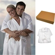 Waffle Robe - Unisex robe. 100% cotton fitted. 2-patch pockets. Light breathable honeycomb. Blank.