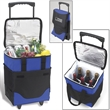 Collapsible Rolling  Cooler with Dividers for 6 Bottles - Collapsible, insulated, leak-proof rolling cooler with dividers for six wine bottles