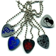 "Guitar pick necklace - Custom stainless steel guitar pick necklace with 18"" ball chain."
