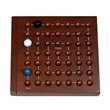 """Cat & Mouse - 5 inch Travel Size - Cat and Mouse 5"""" wooden game board with 6 assorted colored marbles."""