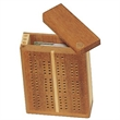 Mini Travel Cribbage Set-Solid Wood 2 Track Board - 2 track travel wood cribbage game set.