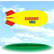 Helium Blimp Display - PVC 17' helium display blimp, indoor/outdoor use, CLOSEOUT SALE.