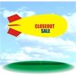 Helium Blimp Display - PVC 17' helium display blimp, indoor/outdoor use, CLOSEOUT SALE.