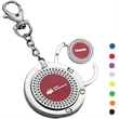 Handbag hanger w/small round color center and key chain - Handbag hanger with small round color center and key chain.