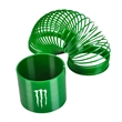 "Fun Coil Spring Shape Maker - E667 GRE - Solid green coil spring with diameter of 3 1/4""."