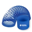 "Blue Fun Coil Spring Shape Maker - E667 - Coil spring toy, with diameter of 3 1/4"", solid blue."