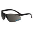 Trion Gray Glasses - Safety glasses with single curved lens design.