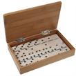 28-Piece Domino Set in Bamboo Box - Domino Set ( 28 pcs.) in bamboo box.