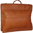 """Bag - Leather garment bag with three large exterior pockets, 22"""" x 39"""" x 3""""."""
