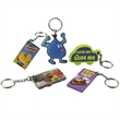 Creative Custom Design Key Chain - Custom design your own rubberized PVC key ring or zipper pull.