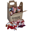 "Candy in gable box - 4"" x 2.5"" rectangular cardboard gable box filled with assorted hard candies."