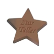 Cello sealed 2 1/2 oz. star shaped chocolate