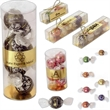 """2 Lindt of Switzerland Lindor Balls in Clear Box - 2 individually wrapped balls in clear box. Box Size: 3 5/8"""" l x 1 1/4"""" w x 1 3/16"""" h"""