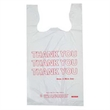 "Stock Thank You T-Shirt Bag (11.5"" x 7"" x 21"") - T-shirt bag, 11.5"" x 7"" x 21"", with ""Thank You"" design. Blank"