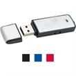 "Rec USB flash drive keychain - Rectangle shaped flash drive with keychain, 2 1/2"" x 3/4"". ""FREE SETUP""."