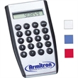 Palm calculator - Handheld calculator with raised rubber keys and rubber grip.