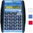 Flip calculator - Flip calculator with black rubber grip, robotic flip style color and 8-digit display.