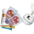 "Golf Ball Pro-Golfer's Kit with Hook/Clip - 3"" golf ball shaped case with hook/clip, filled with lip balm, tees, SPF 15 sunblock and a ball marker."