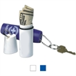 Cylindrical sports capsule - Unfilled cylindrical sports capsule with keychain.