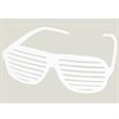 White Slotted Sunglasses - E615 - Fashionable slotted sunglasses - White