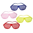 Slotted Party Sunglasses - E629 - Fashionable slotted sunglasses in colors