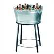 Beverage / Ice tub - Galvanized metal patio beverage tub with stand.