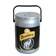Can shape can cooler for 18 cans - Insulated can cooler for up to 18 cans. Leakproof, removable lid, carry handle.