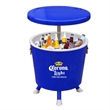 Beverage cooler table - Cooler table with telescopic arm.