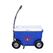 Cooler wagon - Cooler on wheel's, with foot pegs and trailer hitch.
