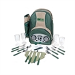 PICNIC RADIO COOLER BACKPACK W/ WINE & CHEESE SERVICE FOR 4 - Insulated Picnic Backpack With Built In AM/FM Radio.