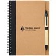 The Eco Spiral Notebook and Pen - Spiral notebook with matching ballpoint pen. Recycled materials.