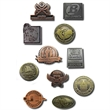 Diestruck antiqued lapel pin - Custom shape antique lapel pin with military clutch.