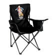 "Cooler Chair - 35"" x 21"" x 20.5"" polyester and steel outdoor chair with cooler in armrest and umbrella holder."