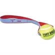 Tennis Ball Toss Toy - Colorfast tennis ball toss toy made of non-abrasive polyester. Carry strap allows for up to 8-color woven imprint.