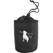 "Pet Treat Bag w/ Drawstring - Nylon drawstring pet treat bag measuring 4 1/2"" x 3 1/2"" with a belt clip and several color options"