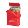 Lunch Sack Non-Woven Cooler - Non-woven lunch cooler with thermo lining, hook and loop closure, grab handle and front slot pocket.