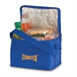 Value Non-Woven Cooler - Non-woven cooler with thermo lining, zippered closure, grab handle and front slot pocket.