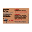 Corrugated Jumbo Business Card Magnet - Jumbo corrugated cardboard business card magnet.