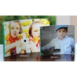 """Arc 4 x 6 Acrylic Frame - 4"""" x 6"""" x .01"""" photo frame made of transparent acrylic with a gentle curve that helps it sit upright on any flat surface."""