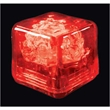 Party ice red LED glow cubes-liquid activated - Stock liquid activated red LED glow party ice cube. Blank.