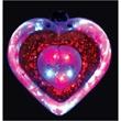 Acrylic heart blinking necklace