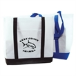"Boat Tote - Non woven boat tote with 3 3/4"" gusset, w 13 1/2"" x 14""."