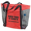 """Jubilee Tote - W14""""x 15""""x 5"""" mesh tote with 22"""" handles and a zipper closure."""