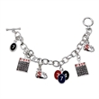 "Bingo Charm Bracelet - Silver-plated charm bracelet measuring 8"" long with an Egyptian toggle and bingo charms."