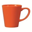 12 oz. Tulsa Vitrified Funnel Ceramic Mug - Ceramic tangerine mug, 12 oz.