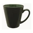 12 oz. Tulsa Vitrified Funnel Ceramic Mug - Ceramic green mug, 12 oz.