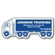 Semi Truck Stock Shape Magnet